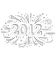 2012 doodle vector image