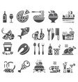 black set of flat icons and elements about vector image