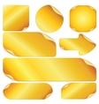 Blank Golden Stickers Notes Labels Set of Design vector image