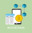 blockchain smartphone bitcoin banking financial vector image