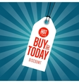 Buy only today discount sale sticker vector image