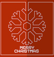 Christmas Red Retro With Snowflake vector image