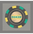 flat shading style icon poker chips vector image