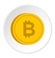 gold coin with bitcoin sign icon circle vector image