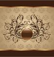 gold floral packing design element - vector image