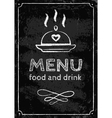 menu chalk vector image