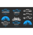 Set Vintage Lowrider Logo Badge and Sign vector image
