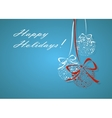 Vintage card with Christmas balls all in stars vector image