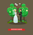 wedding dance in flat style vector image