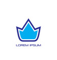 abstract crown sign logo vector image