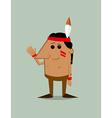 Cartoon native American man