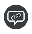 Round chain dialog icon vector image