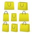 Blank paper shopping bags set isolated on white vector image