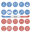 Icons of art and science vector image vector image