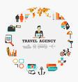Travel agency emblem vector image