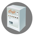 coffee vending machine vector image vector image