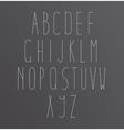 Alphabet Font letters vector image