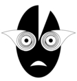 Mask Black And White vector image