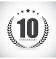 Template logo 10 years anniversary vector