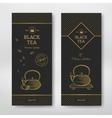 Black tea design package vector image vector image