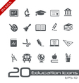 Education Icons Basics vector image