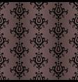 black damask pattern vector image