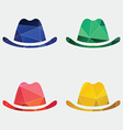 classic hat icon Abstract Triangle vector image