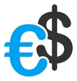 Euro Dollar Currency Icon vector image