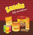 fastfood snacks theme set vector image