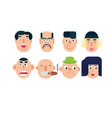 flat face icon set vector image
