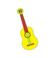 guitar instrument musical carnival design vector image