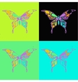 Many different butterflies flying vector image