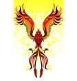phoenix flame bird vector image