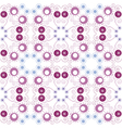Purple floral seamless pattern vector image