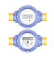 realistic electronic and analog water meter vector image