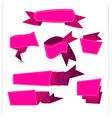 Ribbon pinjk vector image