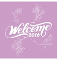 welcome 2016 floral flower happy new year violet vector image