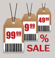 Sale price tag icons vector image
