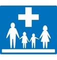 family medicine icon vector image vector image
