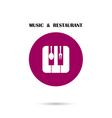 Creative Music and Restaurant icon vector image