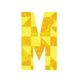 Abstract color alphabet M vector image
