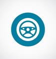 car wheel icon bold blue circle border vector image