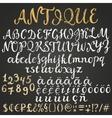 Chalk script latin alphabet vector image
