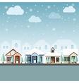 cityscape winter 2 vector image