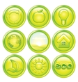 Ecology Icon Set Set of Green Eco Buttons vector image