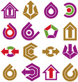 Flat abstract shapes different business icons and vector image