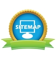 Gold sitemap logo vector image