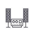 stereo sound hi-fi system line icon sign vector image