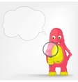 Funny Monster Search vector image vector image
