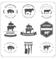 Set of butcher shop labels and design elements vector image vector image